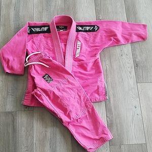 Kids Elite Pink BJJ Gi- Size C1